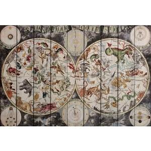 Картина на дереве Дом Корлеоне Карта Винтаж 100x150 см