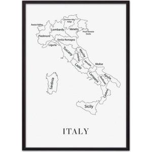 Постер в рамке Дом Корлеоне Карта Италии 30x40 см