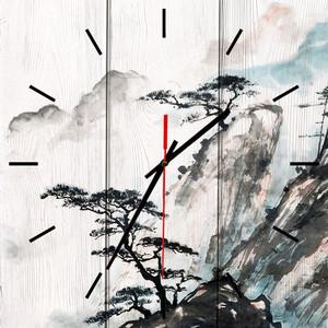 Настенные часы Дом Корлеоне Китайский пейзаж 50x50 см фото