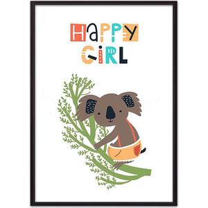 Постер в рамке Дом Корлеоне Коала ''Happy girl'' 50x70 см Коала