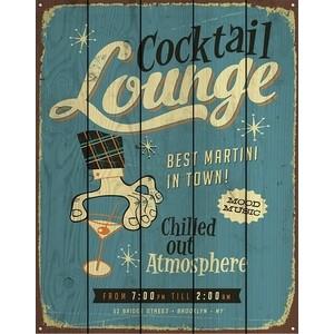 Картина на дереве Дом Корлеоне Коктель Lounge 80x120 см