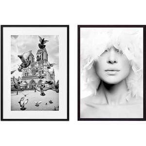 Набор из 2-х постеров Дом Корлеоне Коллаж Fashion №15 50х70 см 2 шт. статуэтки муравьи 2 шт 15 см и 11 см