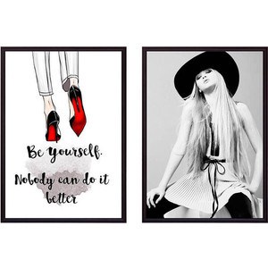 Набор из 2-х постеров Дом Корлеоне Коллаж Fashion №42 50х70 см 2 шт.