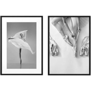 цена на Набор из 2-х постеров Дом Корлеоне Коллаж Балет №5 40х60 см 2 шт.