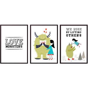 Набор из 3-х постеров Дом Корлеоне Коллаж Детский №104 40х60 см 3 шт. набор из 3 х постеров дом корлеоне коллаж детский 85 40х60 см 3 шт