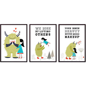 Набор из 3-х постеров Дом Корлеоне Коллаж Детский №106 21х30 см 3 шт.