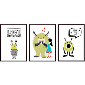 Набор из 3-х постеров Дом Корлеоне Коллаж Детский №108 40х60 см 3 шт.