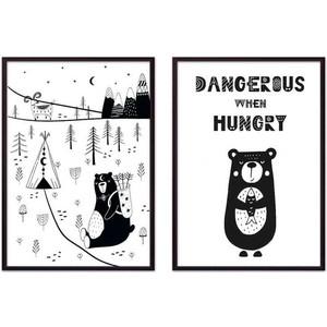 Набор из 2-х постеров Дом Корлеоне Коллаж Детский №21 50х70 см 2 шт.