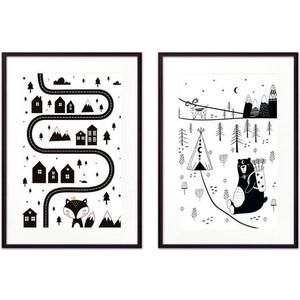 Набор из 2-х постеров Дом Корлеоне Коллаж Детский №30 50х70 см 2 шт.