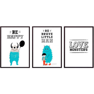 Набор из 3-х постеров Дом Корлеоне Коллаж Детский №93 21х30 см 3 шт. цена 2017