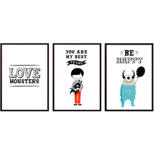 Набор из 3-х постеров Дом Корлеоне Коллаж Детский №97 40х60 см 3 шт. набор из 3 х постеров дом корлеоне коллаж детский 85 40х60 см 3 шт