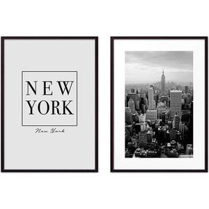 Набор из 2-х постеров Дом Корлеоне Коллаж Нью-Йорк №1 30х40 см 2 шт. фоторамка 30х40 люкс 2 1