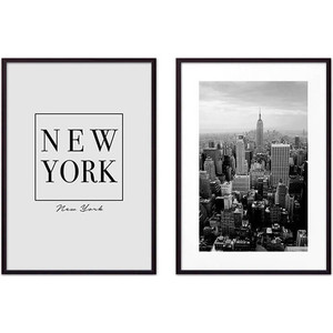 Набор из 2-х постеров Дом Корлеоне Коллаж Нью-Йорк №1 50х70 см 2 шт.