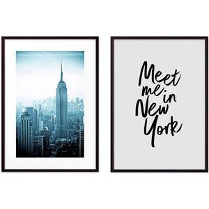 Набор из 2-х постеров Дом Корлеоне Коллаж Нью-Йорк №10 30х40 см 2 шт.