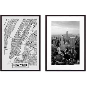 Набор из 2-х постеров Дом Корлеоне Коллаж Нью-Йорк №11 21х30 см 2 шт. фото