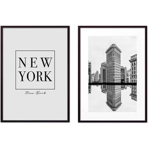 Набор из 2-х постеров Дом Корлеоне Коллаж Нью-Йорк №12 40х60 см 2 шт.