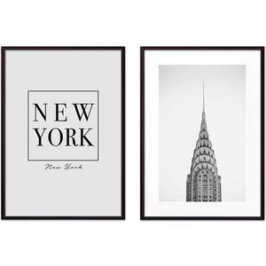 Набор из 2-х постеров Дом Корлеоне Коллаж Нью-Йорк №14 30х40 см 2 шт.