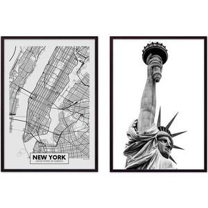 Набор из 2-х постеров Дом Корлеоне Коллаж Нью-Йорк №15 30х40 см 2 шт.