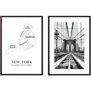 Набор из 2-х постеров Дом Корлеоне Коллаж Нью-Йорк №3 30х40 см 2 шт.
