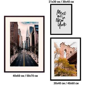 Набор из 3-х постеров Дом Корлеоне Коллаж Нью-Йорк №32 30х40 см 1 шт., 40х60 50х70 1шт.