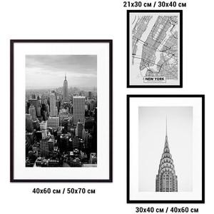 Набор из 3-х постеров Дом Корлеоне Коллаж Нью-Йорк №35 30х40 см 1 шт., 40х60 50х70 1шт.