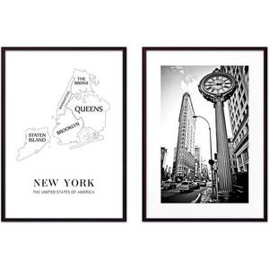 Набор из 2-х постеров Дом Корлеоне Коллаж Нью-Йорк №6 21х30 см 2 шт.