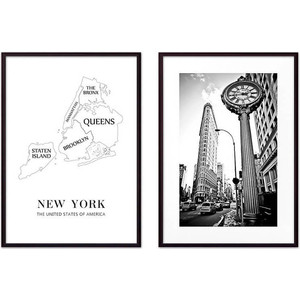 Набор из 2-х постеров Дом Корлеоне Коллаж Нью-Йорк №6 30х40 см 2 шт.