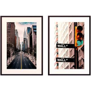 Набор из 2-х постеров Дом Корлеоне Коллаж Нью-Йорк №7 30х40 см 2 шт.