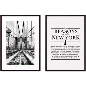 Набор из 2-х постеров Дом Корлеоне Коллаж Нью-Йорк №8 40х60 см 2 шт. фото