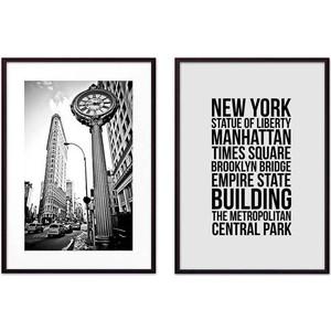 Набор из 2-х постеров Дом Корлеоне Коллаж Нью-Йорк №9 21х30 см 2 шт.