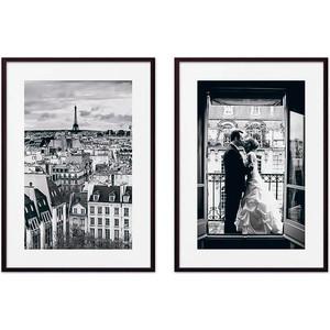 Набор из 2-х постеров Дом Корлеоне Коллаж Париж №12 50х70 см 2 шт.