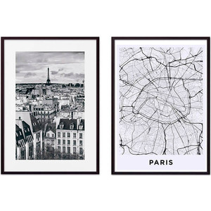 Набор из 2-х постеров Дом Корлеоне Коллаж Париж №14 21х30 см 2 шт.