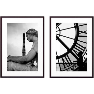 Набор из 2-х постеров Дом Корлеоне Коллаж Париж №15 50х70 см 2 шт. статуэтки муравьи 2 шт 15 см и 11 см