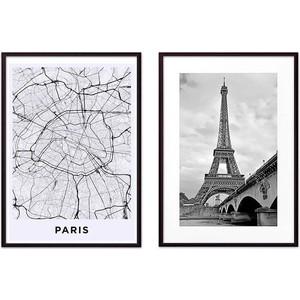Набор из 2-х постеров Дом Корлеоне Коллаж Париж №16 50х70 см 2 шт.