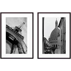 Набор из 2-х постеров Дом Корлеоне Коллаж Париж №17 50х70 см 2 шт.
