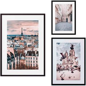 Набор из 3-х постеров Дом Корлеоне Коллаж Париж №23 21х30 см 1 шт., 30х40 40х60 1шт.