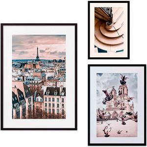 Набор из 3-х постеров Дом Корлеоне Коллаж Париж №26 30х40 см 1 шт., 40х60 50х70 1шт.