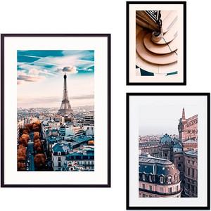 Набор из 3-х постеров Дом Корлеоне Коллаж Париж №29 21х30 см 1 шт., 30х40 40х60 1шт.