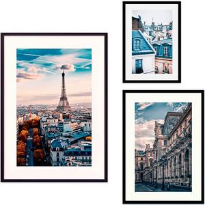 Набор из 3-х постеров Дом Корлеоне Коллаж Париж №32 30х40 см 1 шт., 40х60 50х70 1шт.