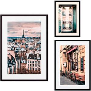 Набор из 3-х постеров Дом Корлеоне Коллаж Париж №35 30х40 см 1 шт., 40х60 50х70 1шт.