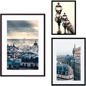 Набор из 3-х постеров Дом Корлеоне Коллаж Париж №52 30х40 см 1 шт., 40х60 50х70 1шт.