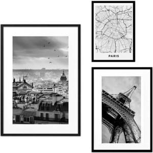Набор из 3-х постеров Дом Корлеоне Коллаж Париж №58 30х40 см 1 шт., 40х60 см 1 шт., 50х70 см 1шт. медведев е карманный ад