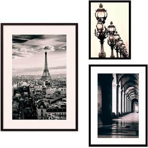 Набор из 3-х постеров Дом Корлеоне Коллаж Париж №62 21х30 см 1 шт., 30х40 см 1 шт., 40х60 см 1шт. фото