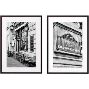 Набор из 2-х постеров Дом Корлеоне Коллаж Париж №8 50х70 см 2 шт.