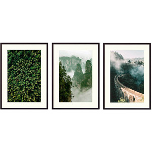 Набор из 3-х постеров Дом Корлеоне Коллаж Природа №133 40х60 см 3 шт.