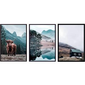 Набор из 3-х постеров Дом Корлеоне Коллаж Природа №161 50х70 см 3 шт. набор из 3 х постеров дом корлеоне коллаж природа 143 50х70 см 3 шт
