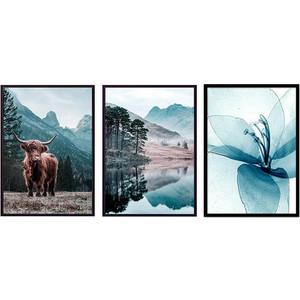 Набор из 3-х постеров Дом Корлеоне Коллаж Природа №171 40х60 см 3 шт.