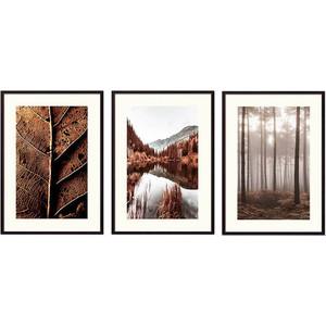 Набор из 3-х постеров Дом Корлеоне Коллаж Природа №174 21х30 см 3 шт.