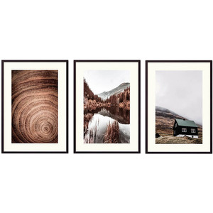 Набор из 3-х постеров Дом Корлеоне Коллаж Природа №176 40х60 см 3 шт.