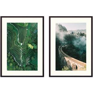 Набор из 2-х постеров Дом Корлеоне Коллаж Природа №31 50х70 см 2 шт.